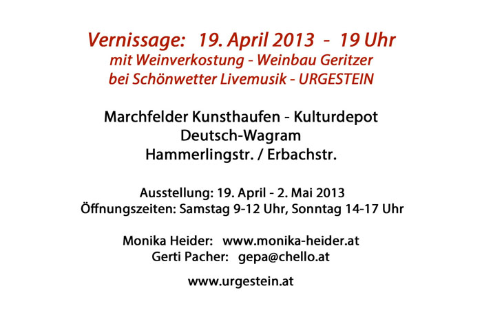 Vernissage 19.April 2013